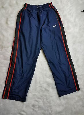 Nike Youth Athletic Pants Sz Large Navy Blue Red Stripe