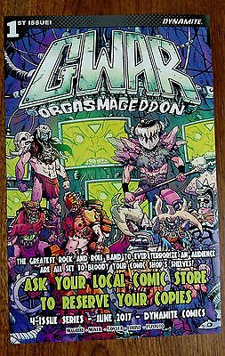 GWAR: ORGASMAGEDDON comic book advertising flier - RARE and SIGNED if you want