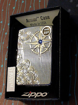 Zippo 28809 Armor Luxury Nautical Waves NEW Lighter Free Shipping