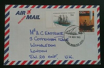 AUSTRALIA COVER 1983 AIRMAIL 75c AYERS ROCK TO LONDON