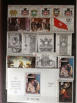 1985 Sovereign Military Order of Malta complete year sets + M/S M NH VF L5601