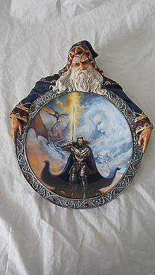 """Vision of the Sorcerer """"The Protector"""" Plate by Jean Pierre Targete w/COA"""