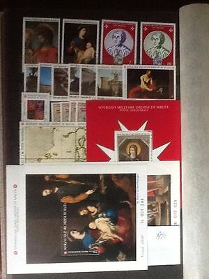 1996 Sovereign Military Order of Malta year sets + M/S M NH VF L5608