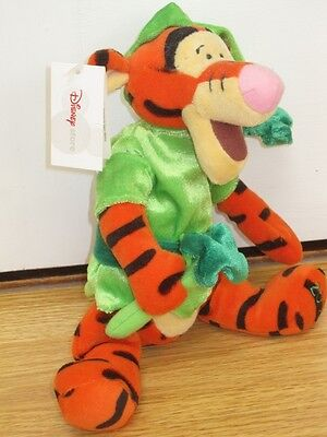 "St Patrick's Day Tigger 9"" Winnie The Pooh Soft Toy Beanie New With Tag 2002"