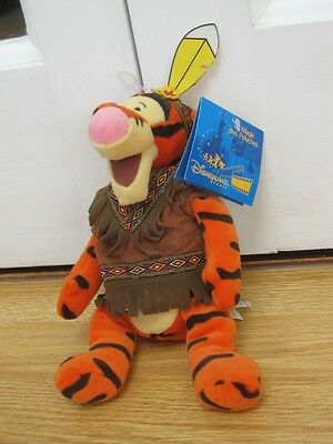 "Indian Tigger 9"" Winnie The Pooh Plush Soft Bean Bag Toy Beanie New With Tag"