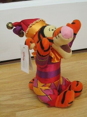 "JESTER MORRIS DANCER Wv BELLS TIGGER 9"" WINNIE THE POOH SOFT TOY BEANIE NEW TAG"