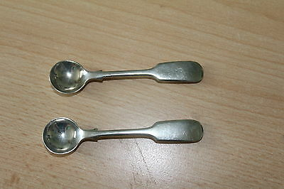 J G GRAVES SALT or MUSTARD SPOONS  x 2 Pieces - Nickel Silver