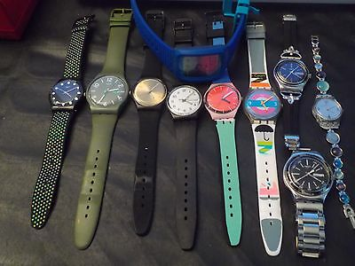 Nice Clean Joblot Swatch Collectable Watches .working