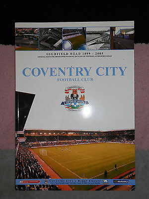 Coventry City v Derby County - Last Match at Highfield Road - 30 April 2005 CCFC
