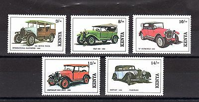 Kenya, SG575/9, Vintage Cars, MNH Set, SG Value (2007) £16.25