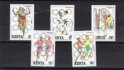 Kenya, SG 580/4, 1992 Olympics, MNH Set, SG Value (2007) £10.75