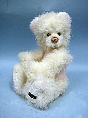 "14"" White German Dense Plush Jointed Bear by Penny French"