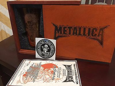 Metallica Fan Club Fixxxer Orange Etched Glass Set #029