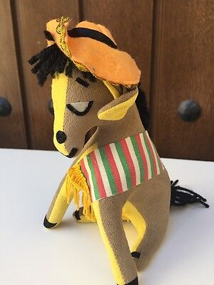 "Vintage Dakin Dream Pets W/tag ""pancho"" Donkey Plush Stuffed Animal Japan 7"""