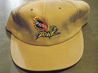 """New """"popsicle Zone"""" Snapback Trucker Hat/cap Tan Color Cotton Keep On Truck'n"""