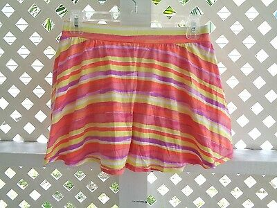 THE CHILDREN'S PLACE - Multi-Color Striped Cotton Pull-On Skort - Sz XL 14  NWT!
