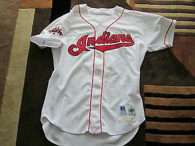 1998 Ron Villone Cleveland Indians Game Worn Jersey - A.L. Champs Patch