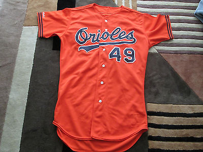 1989 Set 1- MLB Jefferson Baltimore Orioles Game worn Jersey