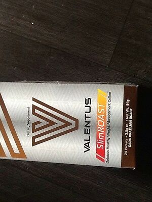 Valentus SlimRoast Coffee Weight loss -UK Seller - 24 Sachets 1 months supply