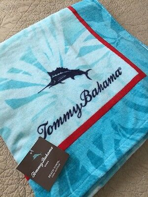"New TOMMY BAHAMA  Floral  Cotton Beach Pool Towel 66"" x 35"""
