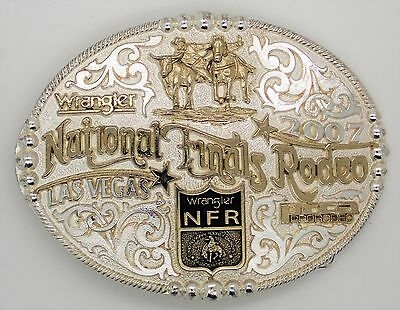 Wrangler National Finals Rodeo 40th Annual Solid Brass '07 Belt Buckle Las Vegas