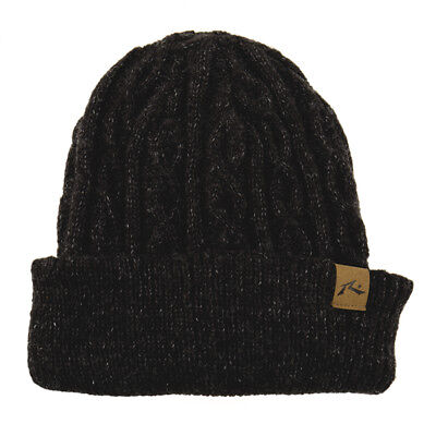 Rusty Funicular Beanie in Black