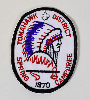 Vintage Boy Scouts BSA TOMAHAWK District 1970 Spring Camporee Patch ** Unused