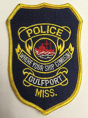 "Gulfport Mississippi MS Police Sheriff Patch ""Where your Ship Comesin"""