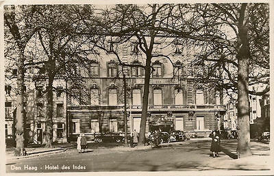 Hague Hotel des Indes South Holland Netherlands 1940-54 Real Photo RPPC Postcard