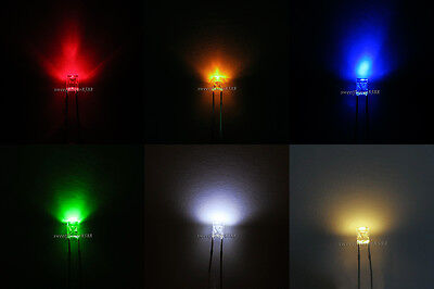 2x3x4mm Red Yellow Blue Green White Warm White Rectangle Square LED Diodes