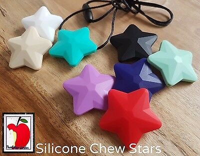 Silicone Chew Necklace Autism ADHD ASD Star Teething Pendant BPA FREE