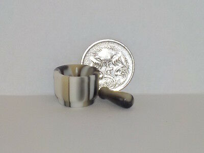 Mortar & Pestle - Hand Turned Acrylic - 1:12 scale Dollhouse Miniature