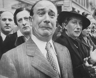 """Frenchman weeps as German Soldiers March in Paris 8""""x 10"""" World War II Photo 123"""