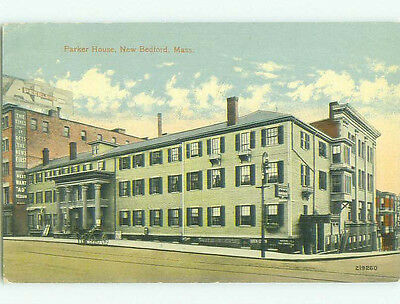 Divided Back PARKER HOUSE HOTEL New Bedford Massachusetts MA HQ5404