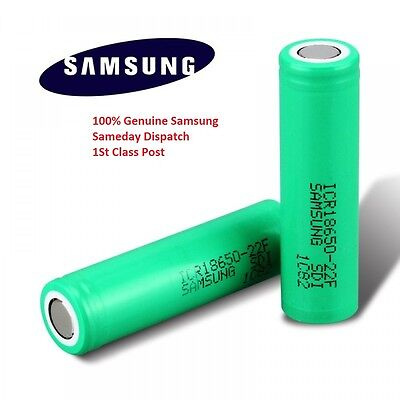2x Genuine Samsung 18650 25R INR 3.7 2500mAh 20 35A Rechargeable Battery Vape UK