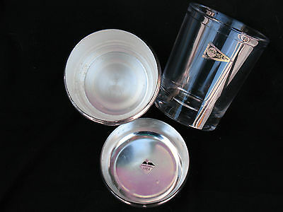 Italy Ice Bucket Silver Plate & Rcr Crystal 3 Pieces Ice Bucket