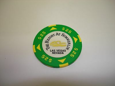Resort At Summerlin Hotel Casino Las Vegas, NV  $25 Casino Chip  OBSOLETE