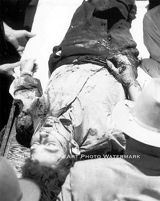 Bonnie And Clyde Vintage Photo Dead Clyde Barrow After Ambush  #20761