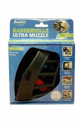 Baskerville Ultra Dog Muzzle Adjustable Deluxe Dog Muzzle Black Size 5