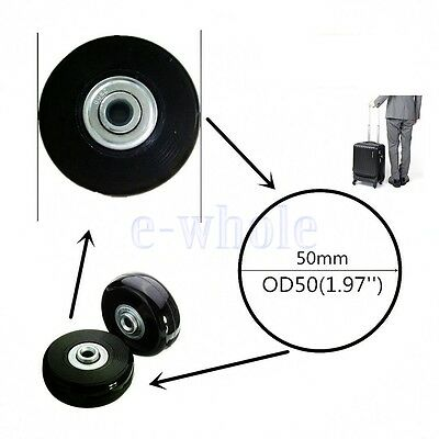 New 1 Pcs Luggage Suitcase Replacement Wheels Axles Rubber Repair Kit OD 50mm WT