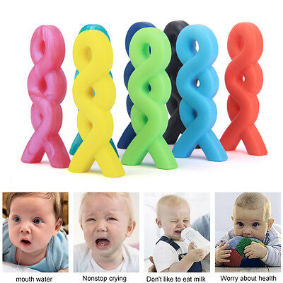 Random Infant Baby Teething Necklace Pendant Silicone Teether Pacifier Autism