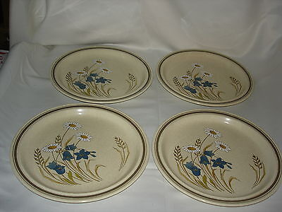 "4 - Royal Doulton ""hill Top Pattern"" Lambethware Dinner Plates"