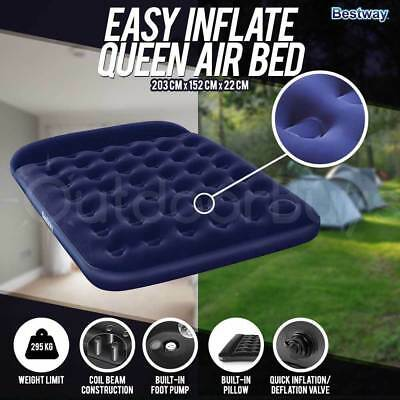 Bestway Inflatable Queen Air Bed | Easy Inflate Camping Air Mattress