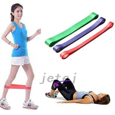 3PC Elastic Resistance Band Loop Heavy Duty Exercise Yoga Power Gym Fitness JE