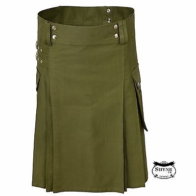 Oliver Green Men Fashion Sport Utility Kilt Deluxe Kilt Adjustable
