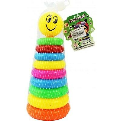 10pcs Stacking Rings Baby Toy Perfect Gift Present  ideal For 6 Months+