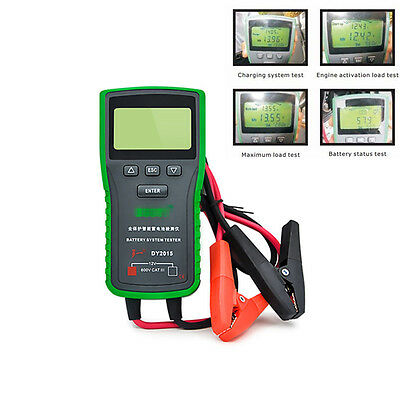 Digital Automotive Vehicle Car Battery Load Tester Analyzer Diagnostic CCA LCD