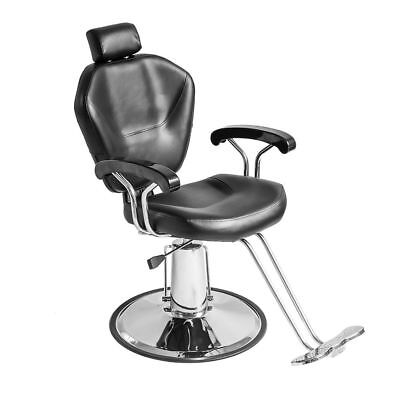 Reclining Hydraulic Barber Chair Salon Tattoo Styling Hairdressing Threading Spa