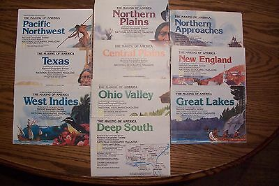 Lot of (10) National Geographic Maps - The Making of America Series