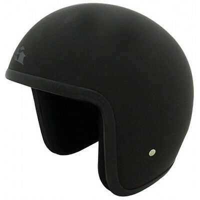 New Scorpion Baron Low Profile Open face Motorcycle Helmet Black XS - XL